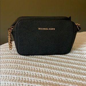 Black Michael Kors Cross Body Bag